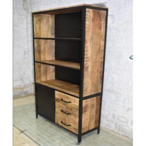 Lizzy Boekenkast (1 deur en 3 lades) (100x37x200)