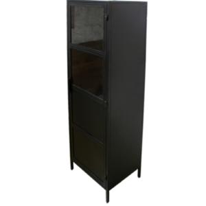 Besi Zwarte Vitrinekast (50x40x180)