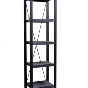 Britt Zwarte Boekenkast (55x40x200)