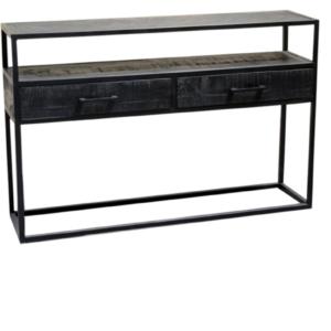 Jax Zwarte Consoletafel (140x30x78)